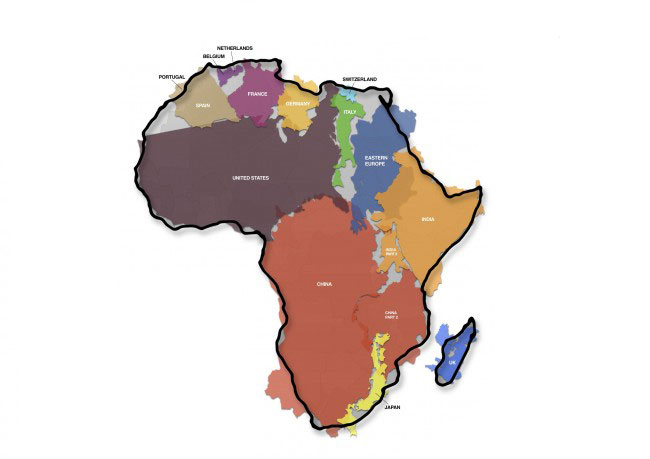 Kai Krause - 'The True Size of Africa'