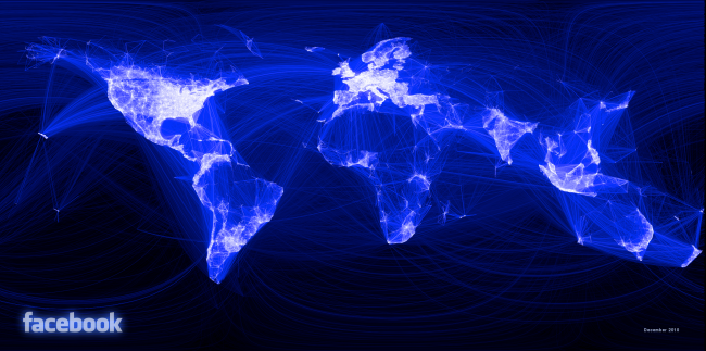 Paul Butler - 'World Map Visualizing Friendships on Facebook'
