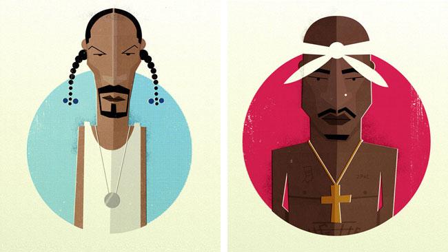 Dale Edwin Murray - 'Hip Hop Head Portraits'